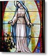 Oval Mary Metal Print