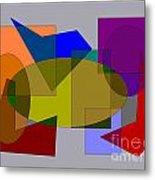 Ovals Squares Metal Print by Meenal C