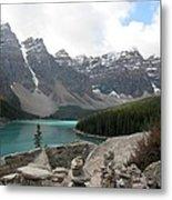Moraine Lake Lookout - Lake Louise, Alberta Metal Print