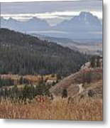 Over Looking Grand Tetons Metal Print