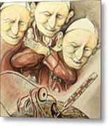 Over-pope-ulation - Cartoon Art Metal Print