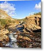 Over The Falls Metal Print