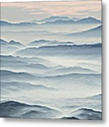 Over The Misty Mountains Metal Print