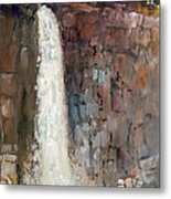 Over The Precipice Metal Print