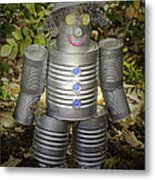 Over The Rainbow Garden Tin Man Metal Print