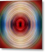 Over The Rainbow Spin Art 10 Metal Print