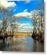 Over The Waters Metal Print