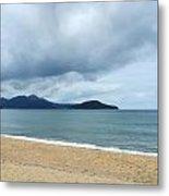 Overcast Beach Metal Print