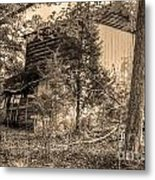 Overgrown Barn Metal Print