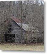 Overgrown Old Horse Barn Metal Print
