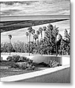Overhang Bw Palm Springs Metal Print by William Dey