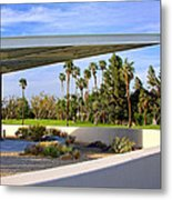 Overhang Palm Springs Tram Station Metal Print by William Dey