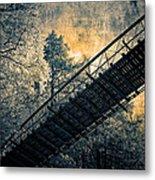 Overhead Bridge Metal Print