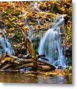 Overlooked Falls In The Porkies Metal Print