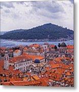 Overlooking Dubrovnik Metal Print