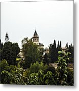 Overlooking The Alhambra On A Rainy Day - Granada - Spain Metal Print