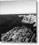 Overlooking The Canyon Metal Print