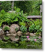 Overlooking The Lily Pond Metal Print