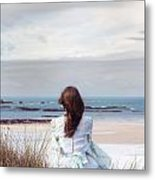 Overlooking The Sea Metal Print