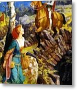 Overthrowing Of The Rusty Knight  Metal Print