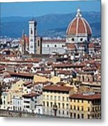 Overview Of Duomo Florence Metal Print
