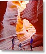 Overwhelmed In Lower Antelope Canyon-az Metal Print