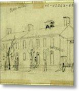Owen House, 1860-1865, Drawing On Cream Paper Pencil Metal Print
