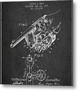 Owen Revolver Patent Drawing From 1899- Dark Metal Print