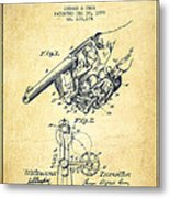 Owen Revolver Patent Drawing From 1899- Vintage Metal Print