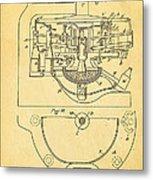 Owens Glass Shaping Machine Patent Art 3 1904 Metal Print