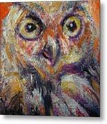 Owl Aceo Metal Print