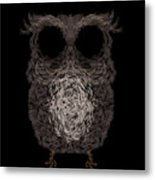 Owl Poster. Vector Illustration Metal Print