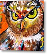 Owl With An Attitude Metal Print