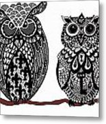 Owls 10 Metal Print