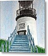 Owls Head Up To The Light Metal Print