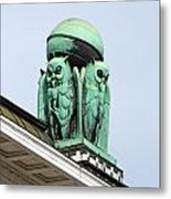 Owls Symbol Of Wisdom Metal Print