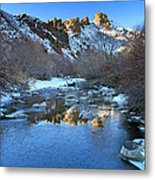 Owyhee River Reflection Desert Light Metal Print