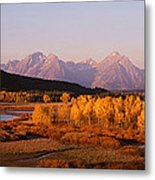 Oxbow Bend Grand Teton National Park Wy Metal Print