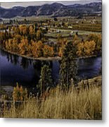 Oxbow Bend In The Wenatchee River Metal Print