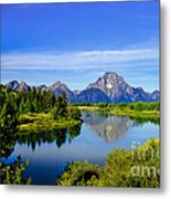 Oxbow Bend Metal Print by Robert Bales