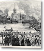 Oxford And Cambridge Universities Boat Race The Start Metal Print