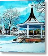Oxford Bandstand Metal Print by Scott Nelson