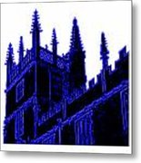 Oxford England 1986 Blue Spirals Art1 Jgibney The Museum Gifts Metal Print
