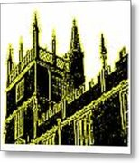 Oxford England 1986 Yellow Spirals Art1 Jgibney The Museum Gifts Metal Print