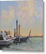 Oyster Boat Evening Metal Print