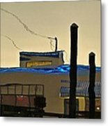 Oyster House Reflection Metal Print
