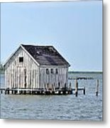 Oyster Shucking Shed Metal Print