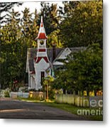 Oysterville Church Metal Print