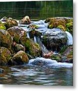 Ozark Waterfall Metal Print