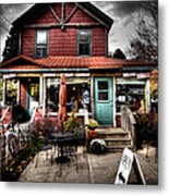 Ozzie's Coffee Bar - Old Forge Ny Metal Print